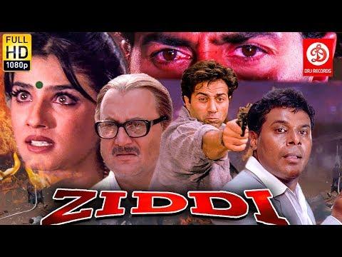 Ziddi ( ज़िद्दी ) Sunny Deol, Raveena Tandon, Anupam Kher | Bollywood Romantic Action Drama Movie