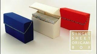 一枚折りの箱【しっかりしまるふた2】Single sheet Origami Box 2 thumbnail