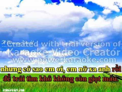 karaoke Khong duoc Khoc Beat - Pham Truong.flv