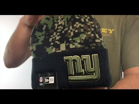 NY Giants  ARMY CAMO PRINT-PLAY  Knit Beanie Hat by New Era - YouTube 62c68eb9ef6f