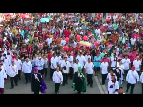 Señor San Miguel Procession 2017: Thousands of People Iligan City Mindanao Philippines