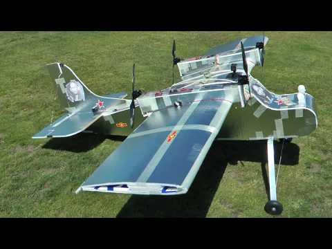 Huge 4 Motor Foam Cargo Plane - RCTESTFLIGHT -