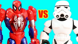 Spider-man Superhero Robot Vs RC Mega Mighties Robots | Ultimate Hulk Smash Vs Infinity Gauntlet