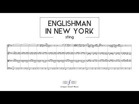 Sting - Englishman in New York | String Quartet Sheet Music