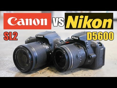Canon SL2 (200D) vs Nikon D5600 - Best Beginner DSLR 2018!