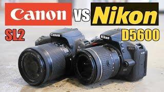 Canon SL2 (200D) vs Nikon D5600 - Best Beginner DSLR 2018!