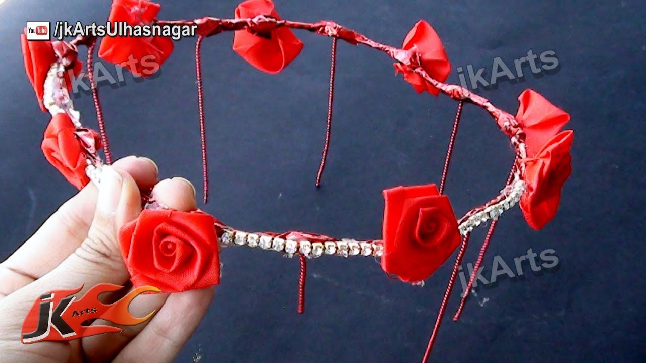 Diy flower crown hair accessory how to make flower crowns tiara diy flower crown hair accessory how to make flower crowns tiara jk arts 515 youtube izmirmasajfo Images