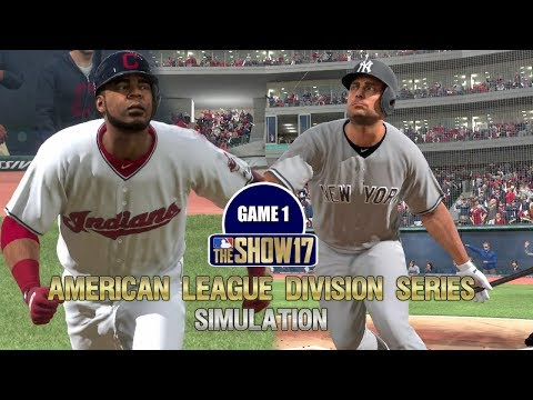 MLB The Show 17 | American League Division Series Yankees vs Indians Game 1 Sim