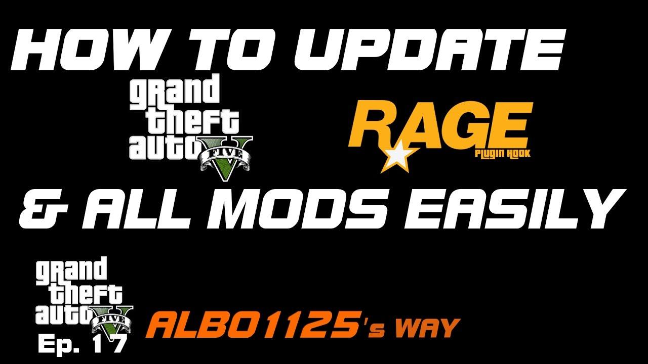 HOW TO EASILY UPDATE GTA5, RAGEPluginHook & ALL MODS   Learn GTA5 Modding  Albo's Way 17