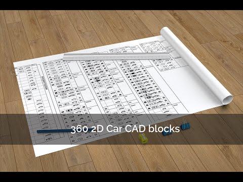 360 2D Car CAD Blocks