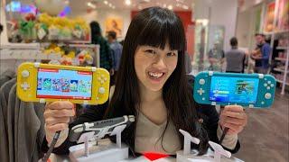 Nintendo Ny Midnight Triple Launch!  Nintendo Switch Lite| Zelda Link's Awakening |amiibo