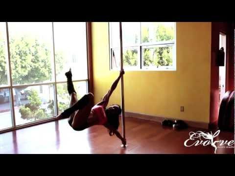 Los Angeles Pole Dance Class Instructor Sasja Lee ~ Evolve Dance Studio