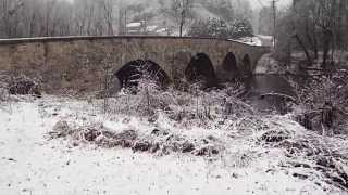Antietam Creek Ironworks Four Arch Limestone Bridge - Downstream Spandrel Wall Design