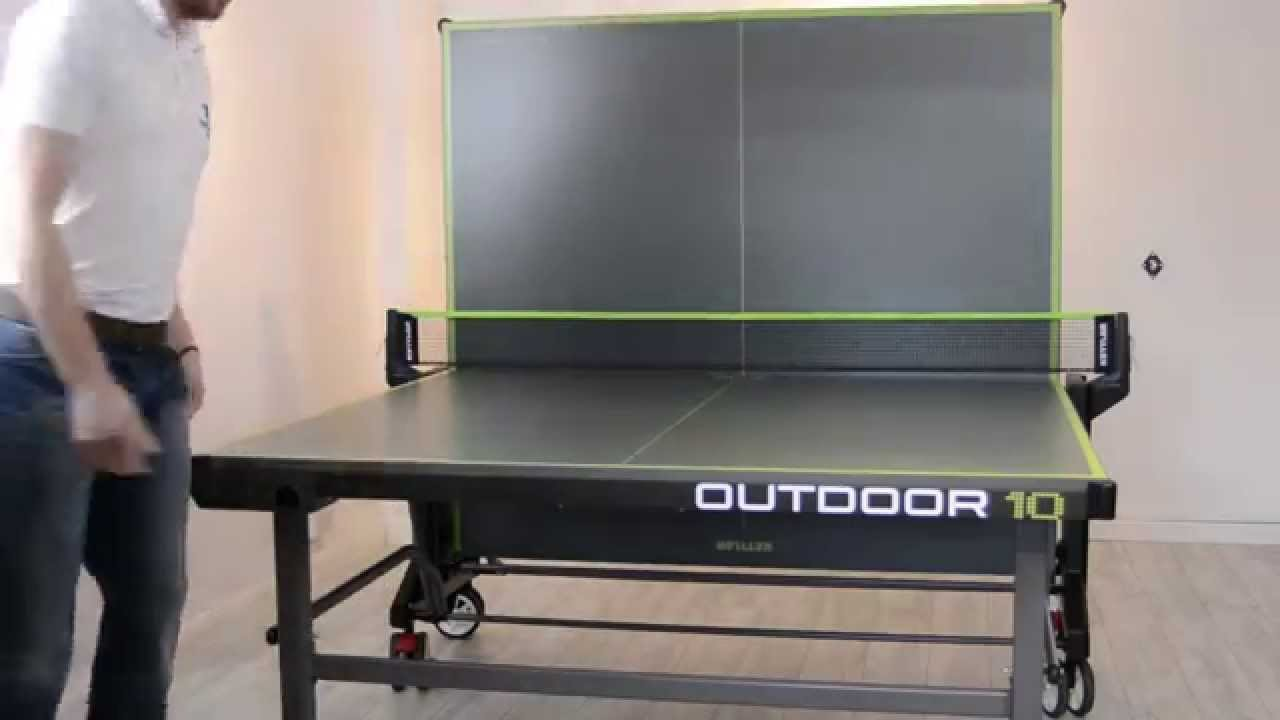 bf879112fb514b Kettler Classic 10 Outdoor Table Tennis Table Key Features - YouTube