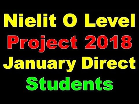 Nielit DOeacc O Level Project 2018 January Direct  Students Full Process Step By Step In Hindi