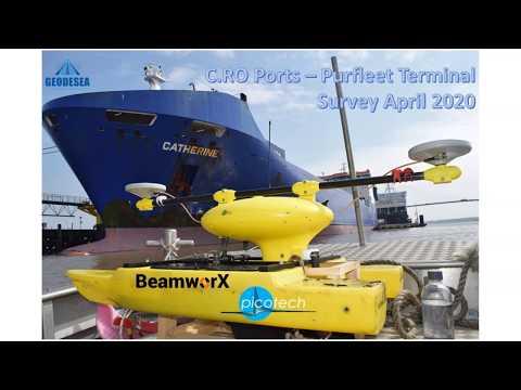 Pictech Multibeam Sonar on USV for Port Hydrographic Surveys