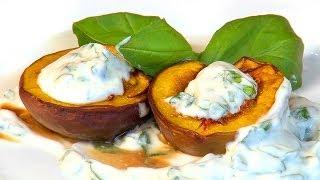 How To Make Roasted Peaches In Basil Mascarpone Cream