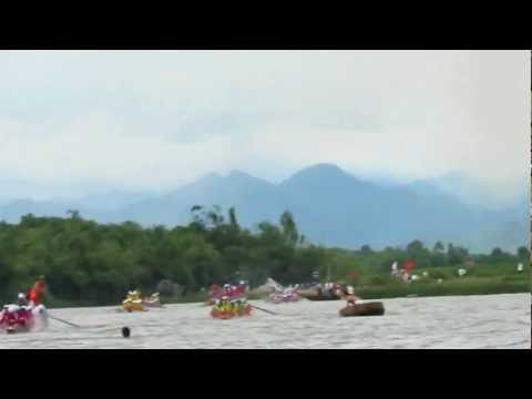 [30/08/2012]Clip 1 - Lễ hội bơi đua thuyền truyền thống trên sông Kiến Giang
