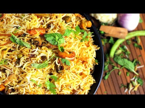 Veg Dum Biryani   Hyderabadi Veg Biryani Recipe   How To Make Hyderabadi Nizam'sbiryani