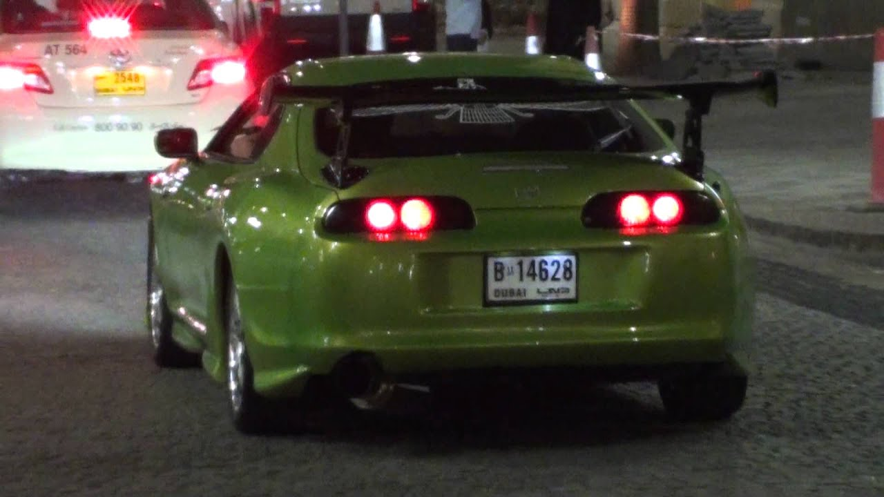 toyota supra fast and furious green. toyota supra in fast and furious green