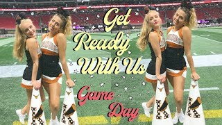 grwm & cheerleaders!! gameday in atlanta! things get wild