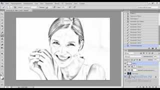 Из фото рисунок карандашом в Фотошопе(Видео урок по созданию карандашного рисунка из фотографии в Фотошопе., 2014-10-27T08:30:27.000Z)