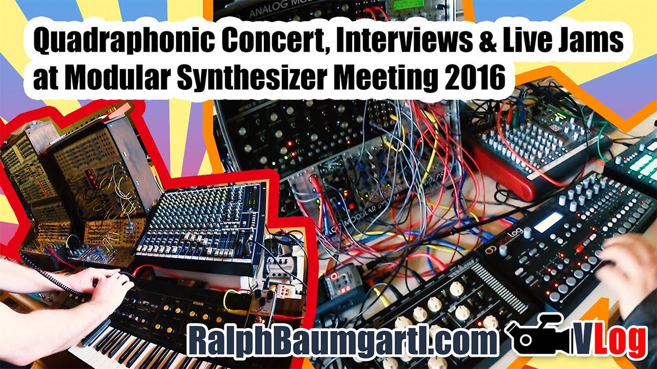 Modular Synthesizer Concert : quadraphonic sound concert live synth jams interviews at modular synthesizer meeting 2016 ~ Vivirlamusica.com Haus und Dekorationen