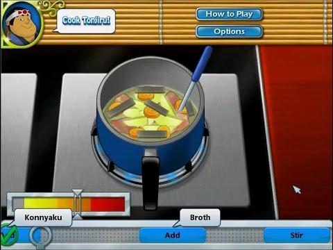 เกมส์ทำอาหารญี่ปุ่น ซุปมิโสะใส่หมู - Tonjiru Japanese food Cooking Game 豚汁,돼지 고기 된장국