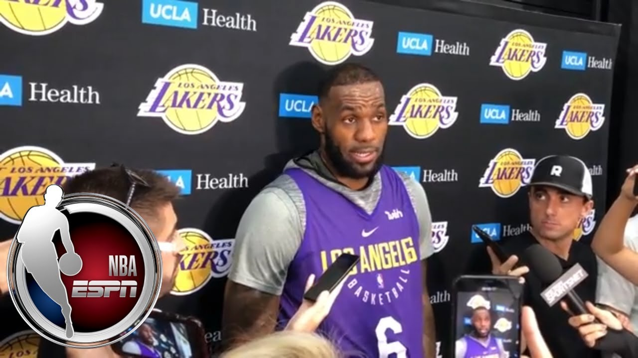 LeBron James excited to face Carmelo Anthony in Lakers home opener | NBA on ESPN