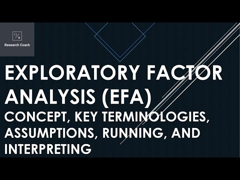 Exploratory Factor Analysis (EFA): Concept, Key Terminologies, Assumptions, Running, Interpreting