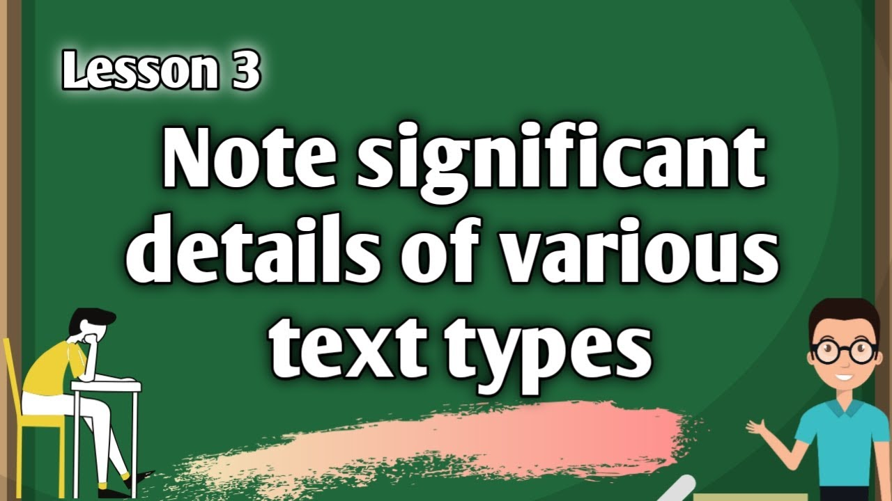 small resolution of Note Significant Details of Various Text Types   Grade 4 MELC-Based   Video  Lesson   Bes TV - YouTube