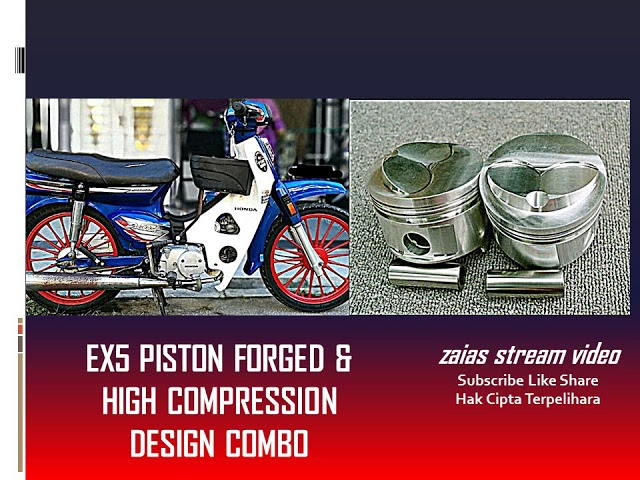 HONDA EX5 PISTON FORGED & HIGH COMPRESSION COMBO