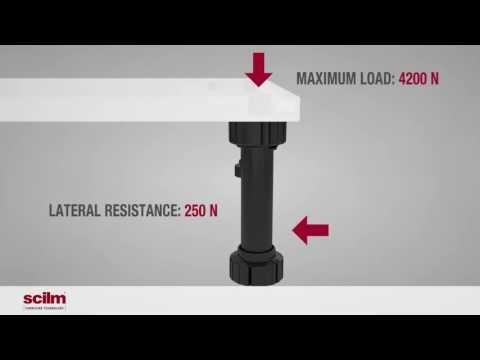 Piedini Regolabili Per Mobili Da Cucina.Scilm Piedini Regolabili Per Mobili Adjustable Furniture Legs