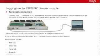 How to Log in to the Avaya ERS8800 Chassis Console