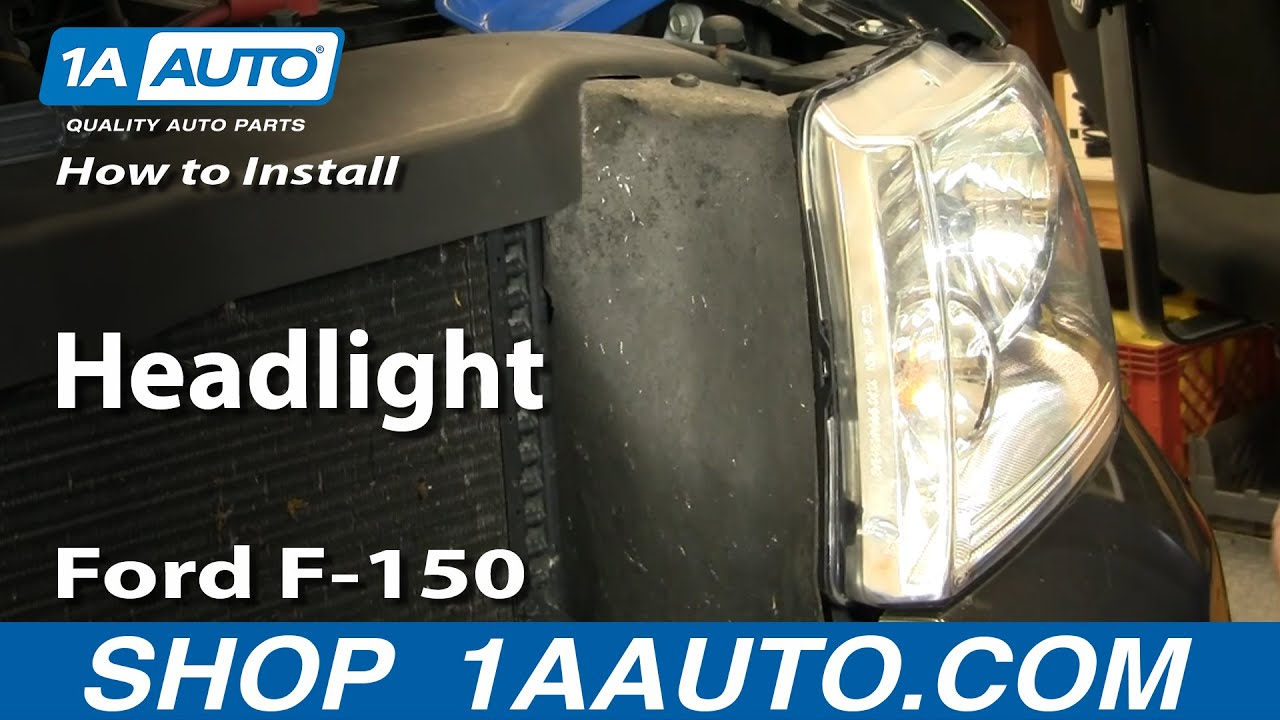 How To Install Replace Headlight Ford F150 0408 1AAuto  YouTube
