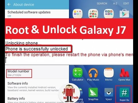 How to Unlock and Root Samsung Galaxy J7 (Any Carrer or Country)