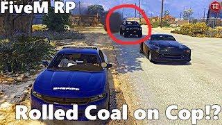 GTA FiveM RP: Police Ride Along (Civilian) Rolled Coal on Cop!?