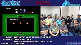 The Legend of Zelda NES Speed Run (0:43:44) (*5 Hearts) by Darkwing Duck #SGDQ 2013