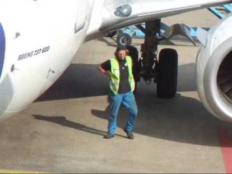 Schiphol airport - ground crew in amsterdam