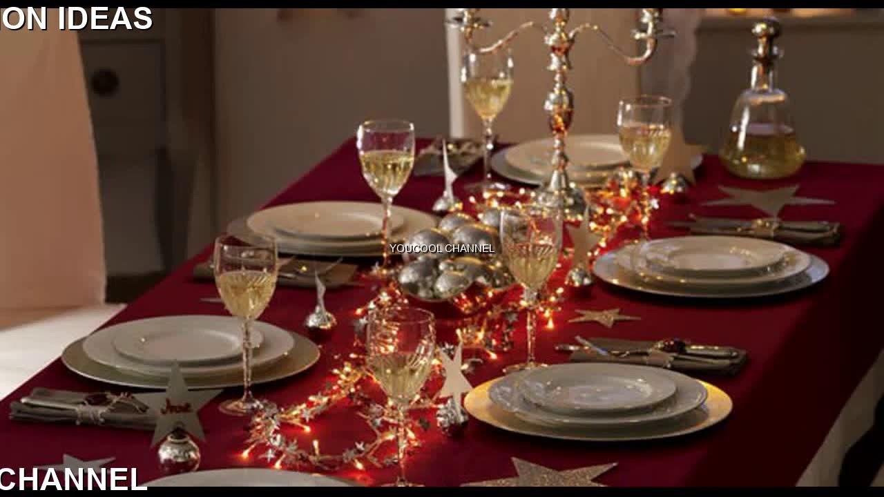 christmas dinner table decoration ideas - YouTube