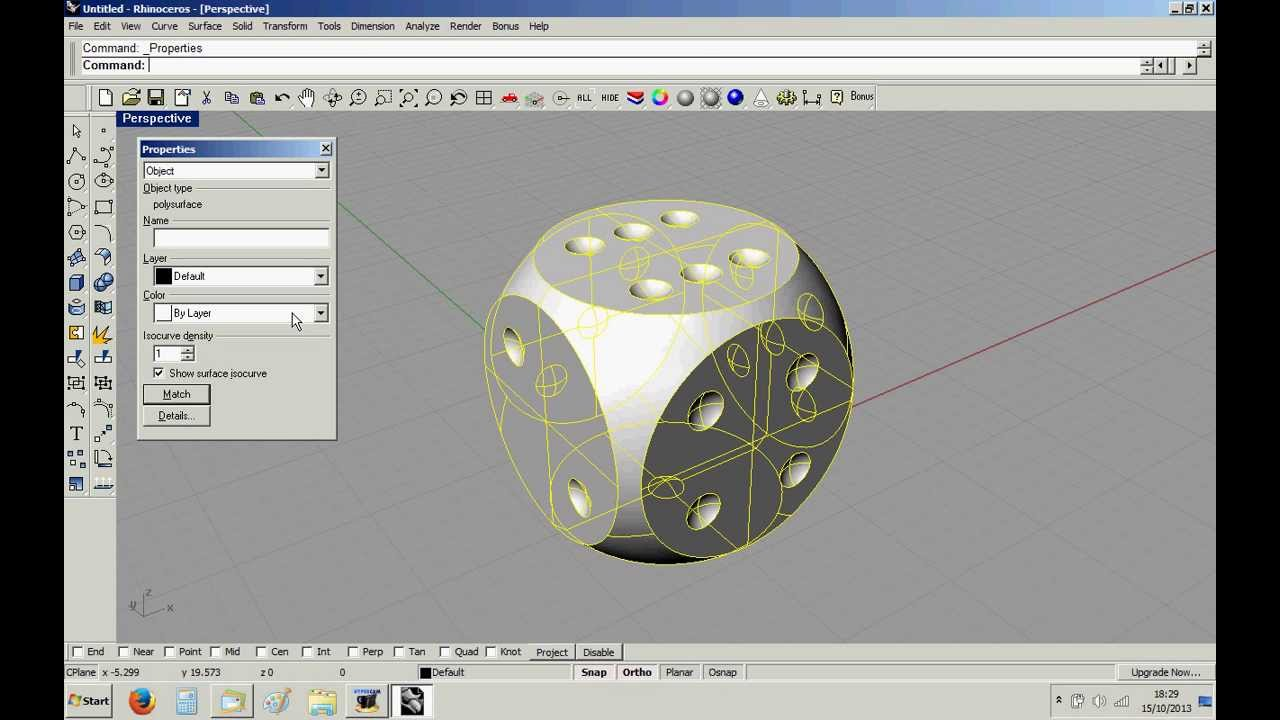 Modelling a dice in rhino 3d cad youtube Simple cad online
