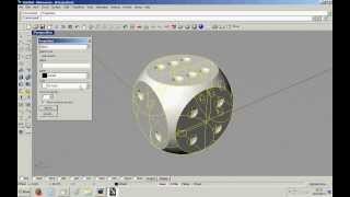 Modelling a dice in Rhino 3D CAD