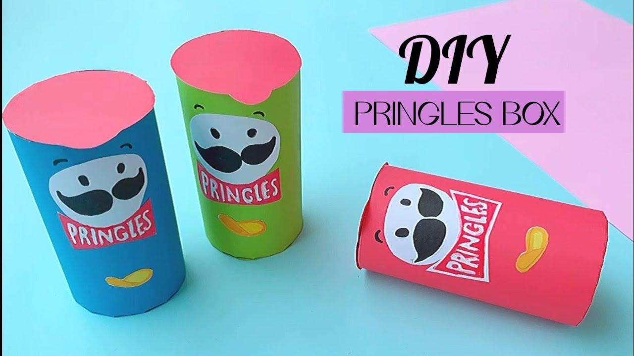 how to make cute Pringles box / DIY paper chips box /paper craft /diy 프로젝트 -handmade paper chips box