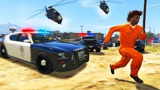 What Happens if you ESCAPE Prison in GTA 5? GTA 5 Roleplay!