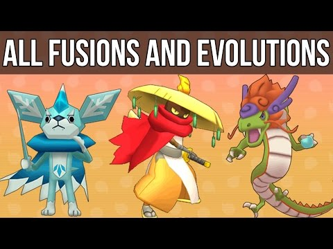 Yo-Kai Watch - All Fusions and Evolutions