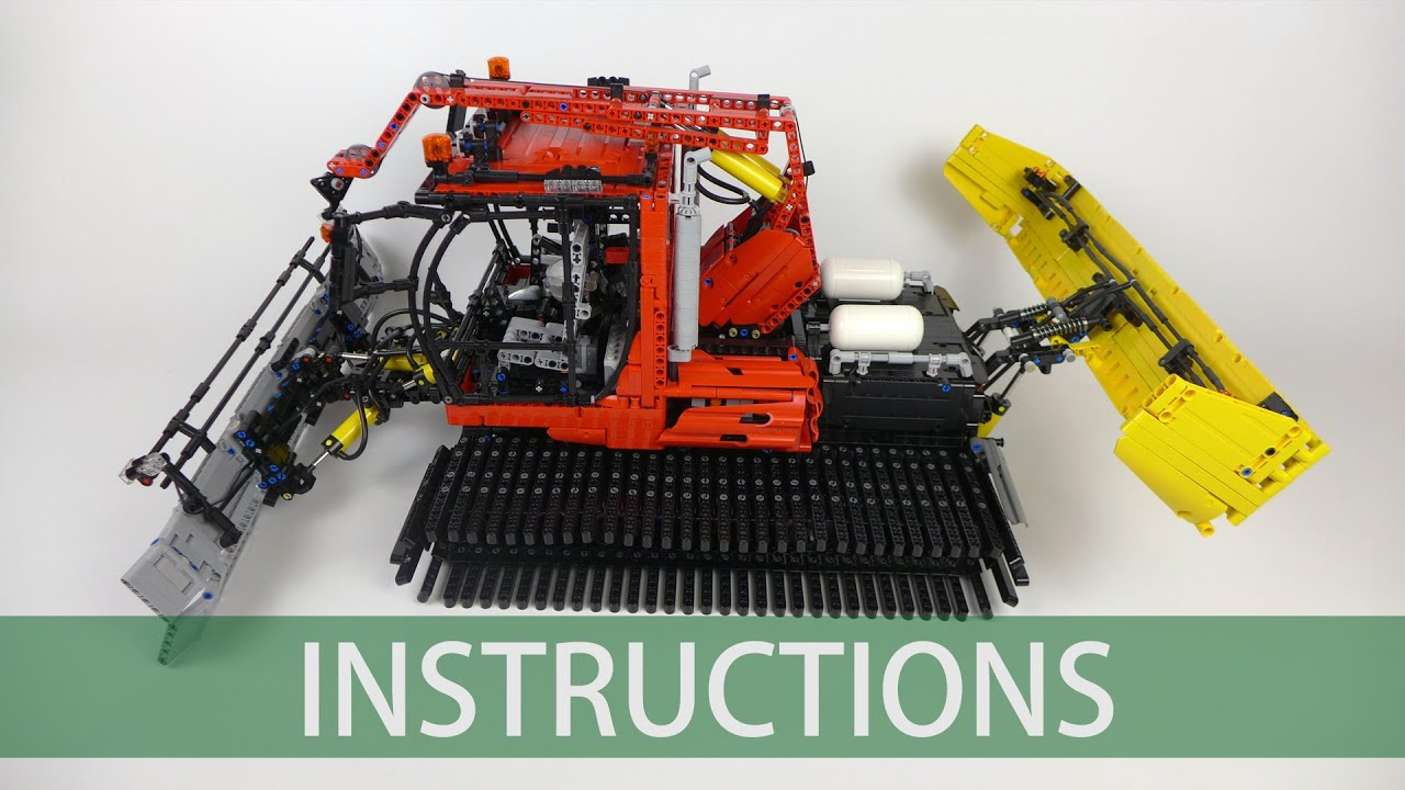 lego technic snow groomer building instructions youtube. Black Bedroom Furniture Sets. Home Design Ideas