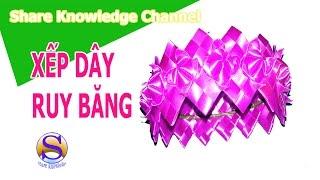 Share Knowledge- XẾP DÂY RUY BĂNG LÀM CHUÔNG GIÓ| VÒNG CHUÔNG