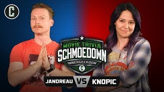 Innergeekdom Tournament! Coy Jandreau VS Mara Knopic - Movie Trivia Schmoedown