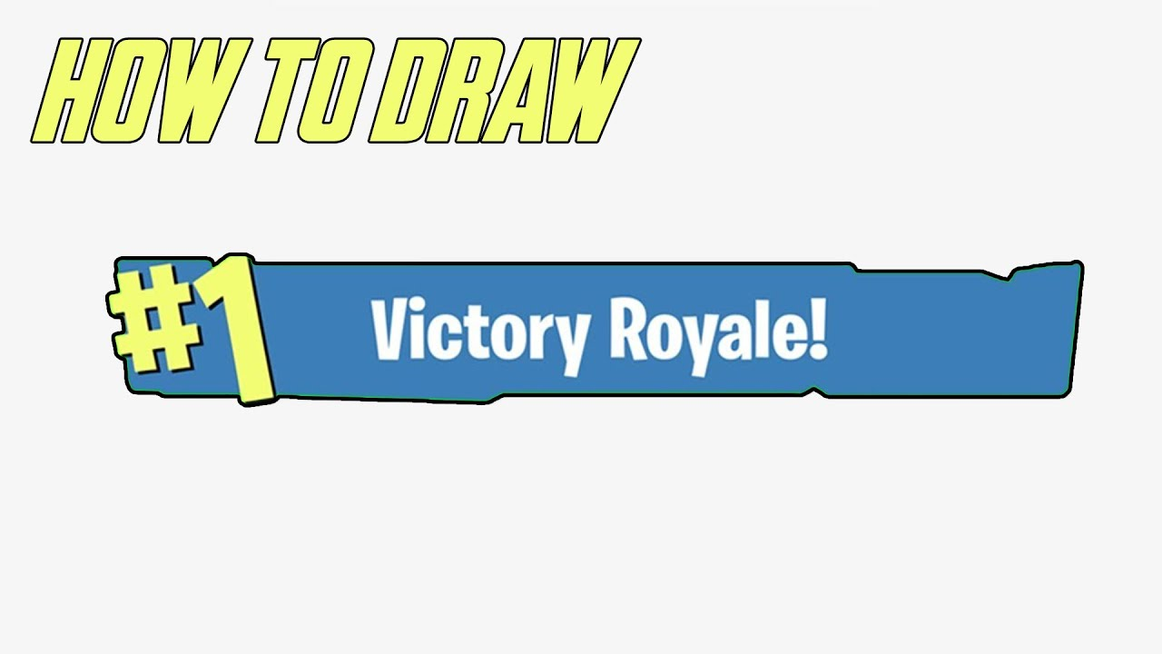How To Draw Fortnite Victory Royale Logo Easy Youtube