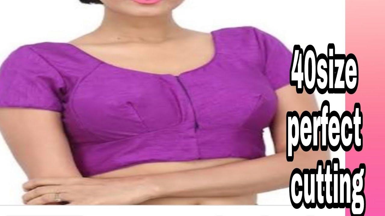 0c9a1b074886d1 Blouse cutting Bhag- 7 (40-size) Katori blouse paper pharma cutting easy  method